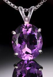 8x6 Amethyst Gemstone Pendant