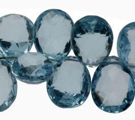 Blue Topaz Briollettes
