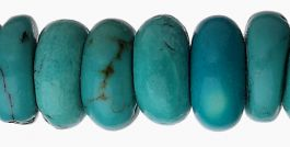 7mm  Turquoise Roundelle Beads