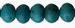 5mm Turquoise Roundelle Beads