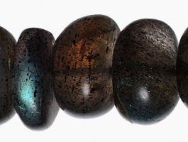 7mm  Labradorite Roundelle Beads
