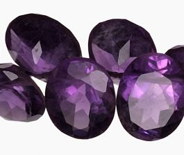 Drilled Gemstone - Amethyst