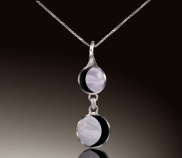 """Phases of the Moon Double Drop pendant with 18"""" Chain"""