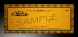 $50 Gift Certificate!