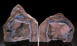 "6"" Dugway Geode Bookends"