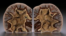 "6"" Tall Septarian Geode Bookends"