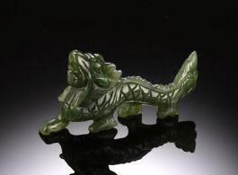 Jade Dragon miniature figurine-Small size