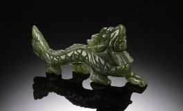 Jade Dragon miniature figurine-Medium size