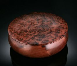 Round Thuya Wood Boxes