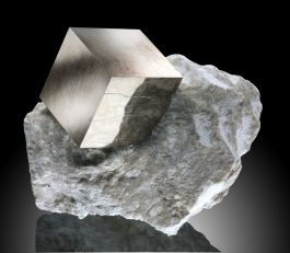 Small Pyrite Cube in Matrix