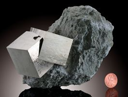 Cubic Pyrite Crystals
