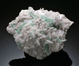 Green Apophyllite on Stilbite