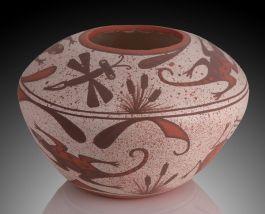 G. Katsenih Hand Spun Zuni Vase