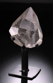 Facetted Quartz with Rutile on Stand