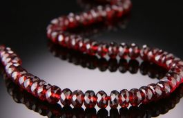 6mm Garnet Necklace