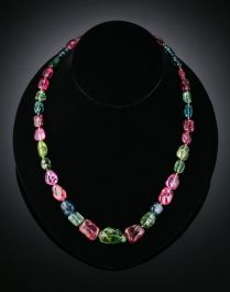Stunning Multi-colored Tourmaline necklace