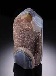 """Carved Brazilian Agate """"Crystal"""""""