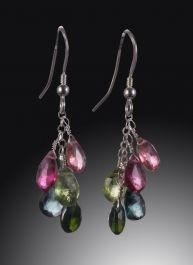 Multi-colored Tourmaline Earrings