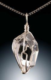 "Herkimer "" Diamond"" Pendant w/ 18"" SS Chain"