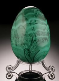 Large Malachite Egg w/ stand