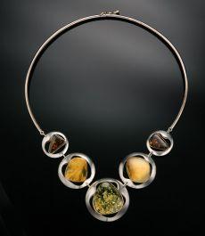 Eloquent Modern-European Amber Necklace