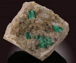 Emerald Crystals on Matrix