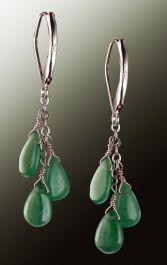 3 Drop Emerald Earrings