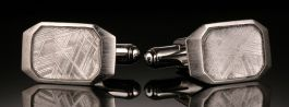 Meteorite Cufflinks from Sweden