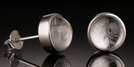 Meteorite Stud Earrings from Sweden