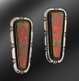(6) Navajo Ammolite Earrings