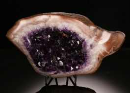 Free-form Amethyst Geode with Stand