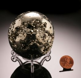 Pyrite Sphere w/ stand