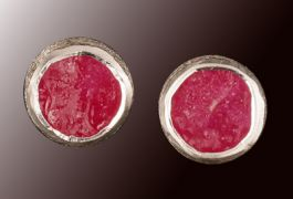 8mm Ruby Post Earrings