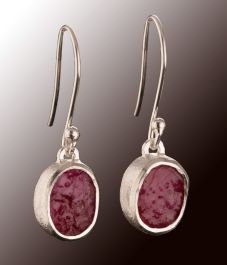 Raw Ruby dangling Earrings