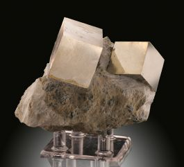 Pyrite, Navajún, Spain (with stand)