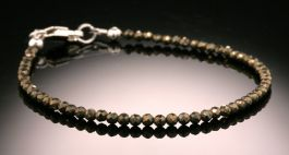 Faceted Pyrite Bead Bracelet