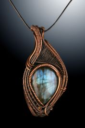 Labradorite in Copper Wire Wrap