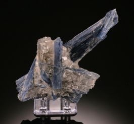 Kyanite in Quartz (with stand)