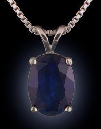 7x5mm Sapphire Pendant