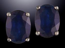 6x4mm Sapphire Studs