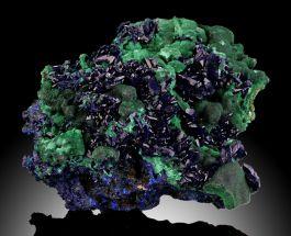 Azurite Malachite Pseudomorph