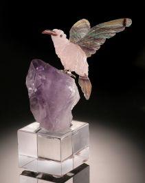 Hummingbird Gemstone Carving