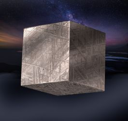 Gibeon Cubed Meteorite w/ stand