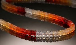 Mexican Fire Opal Beaded Necklace