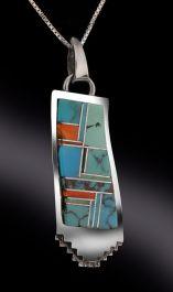 Navajo Turquoise Inlay Pendant