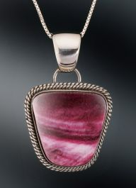 Artie Yellowhorse Spiney Oyster Pendant