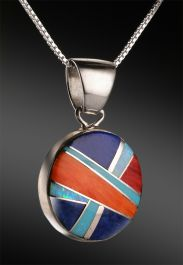 Sheryl Martinez Navajo Inlay Pendant (with chain)