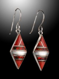 Cathy Webster Spiney Oyster Inlay Earrings