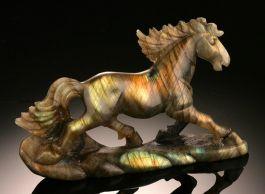 Labradorite Horse Carving