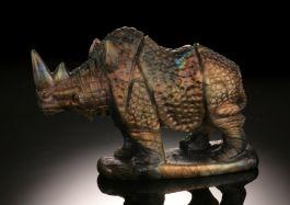 Labradorite Rhino Carving